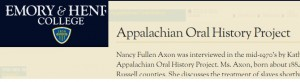 Appalachian Oral History
