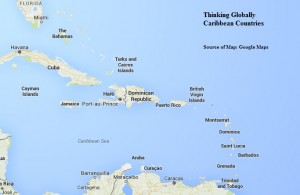 Caribbean Countries Map