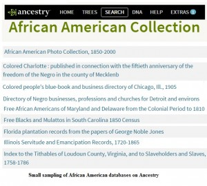 Ancestry Afr Am Collections