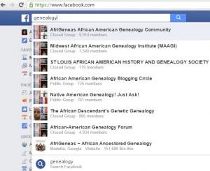 FB Afr Am Genea Groups