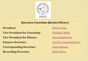 AAHGS New Officers