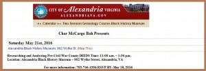 AlexandriaGenealogyClass